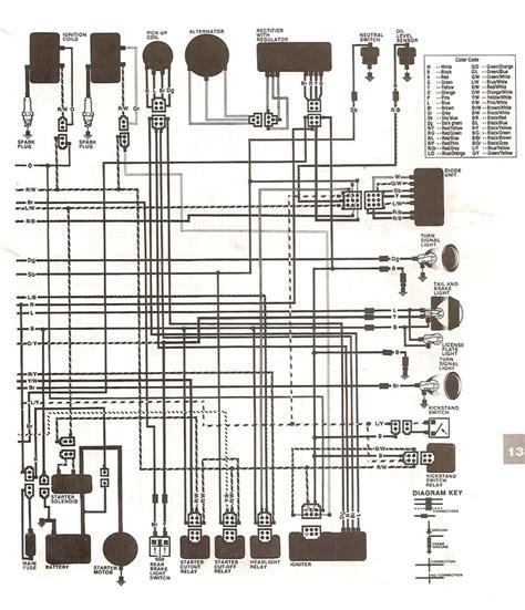 1984 yamaha virago xv1000 wiring diagram get free image