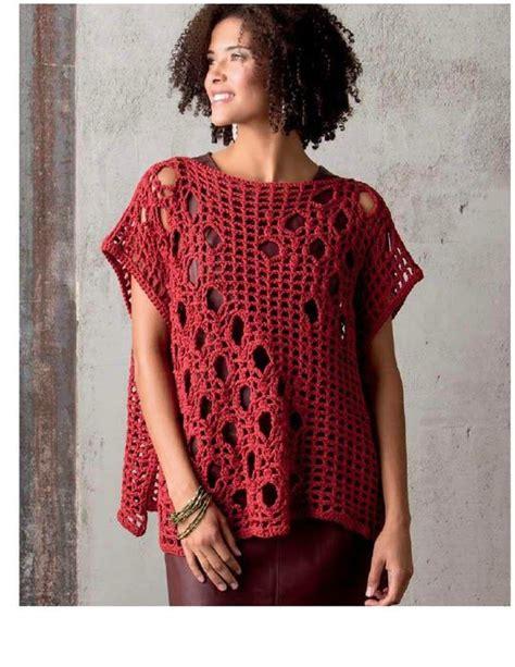 patrones de ruanas a crochet chaleco rectangular de una sola pieza patron patrones