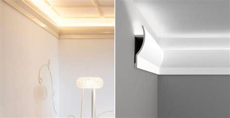 w nde mit stuckleisten wohnideen wandgestaltung maler indirekte beleuchtung als