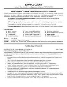 Technical Skills Exles For Resume by Technical Skills Resume Exle Sle Resume Format