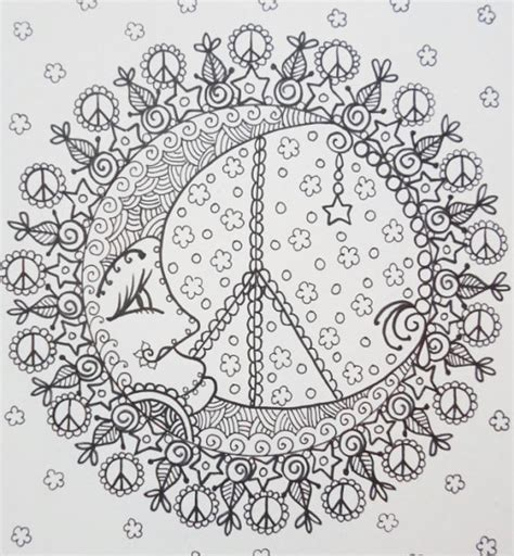 peace mandalas coloring book page мандала colouring adult