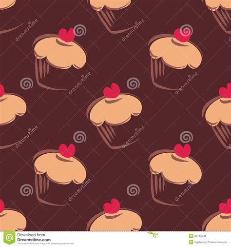 cake background pattern vector seamless vector pattern background with big chocol royalty