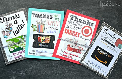 Teacher Gift Card Ideas - most popular gift ideas for teacher appreciation week