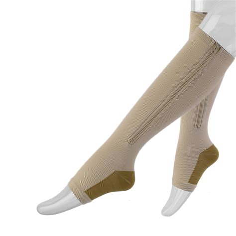 Zipper Unisex by Unisex Compression Zip Socks Zipper Leg Support Open Toe