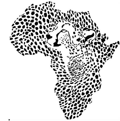 Wall Stickers For Kids Bedroom african leopard map wall sticker wild african animal