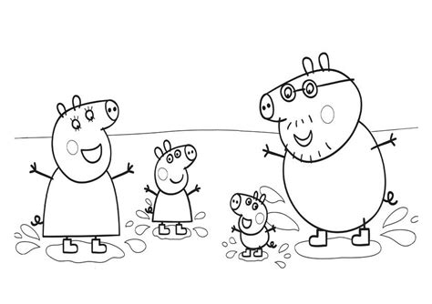 peppa pig muddy puddles coloring pages peppa pig coloring pages getcoloringpages com