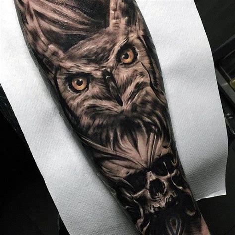 50 owl skull tattoo designs for men tattoos for men