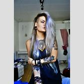 lavender hair o...