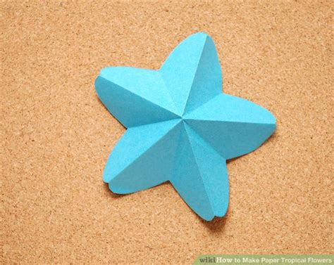 How To Make Paper Hawaiian Flowers - how to make paper tropical flowers 13 steps with pictures