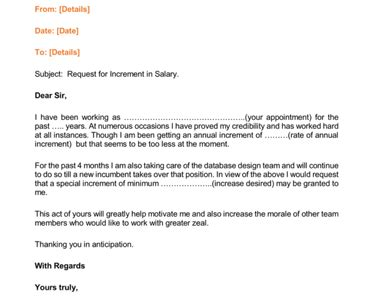 12 salary increases letter formats samples for word and pdf