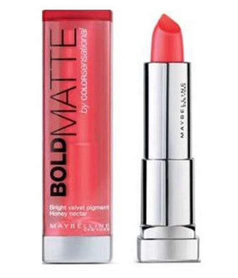 Lipstik Maybelline Color Sensational Bold Matte maybelline color sensational bold matte mat1 coral lipstick 323 3 9 gm buy maybelline color