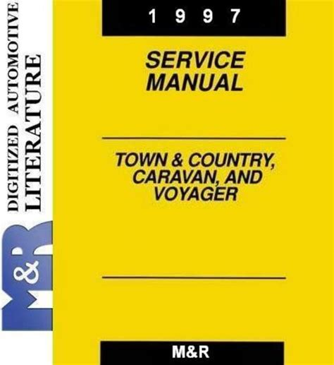 car repair manuals online pdf 1992 plymouth voyager regenerative braking 1997 voyager plymouth original service shop manual download m