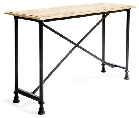 industrial sofa table lafayette sofa table industrial console tables by 5