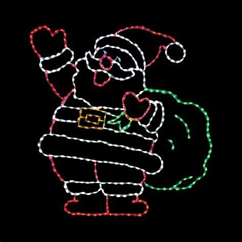 Lighted Outdoor Santa 66 In Led Jolly Santa Lighted Display 410 Bulbs Outdoor Light Displays At Hayneedle