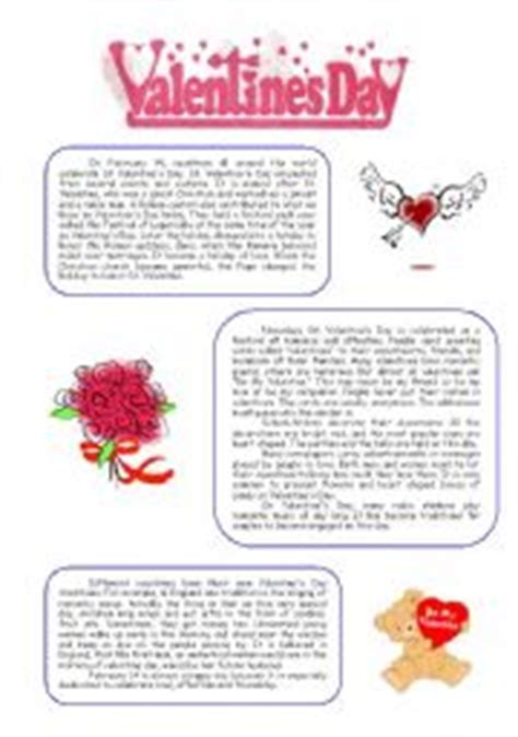 valentines reading comprehension worksheet teaching worksheets 180 s day