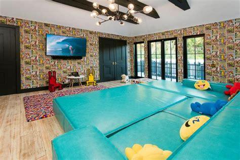 eclectic home   vibrant playroom  newport