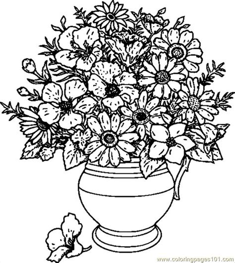 coloring pages of vase with flowers flower vase coloring pages vases sale