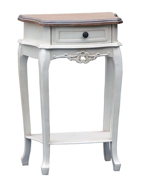 antique white 1 drawer bedside l table shabby french 1000 images about side l console tables dressers on