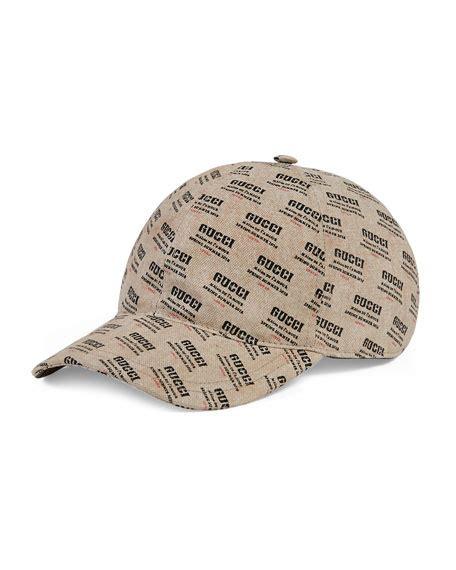 Print Baseball Cap gucci snake print gg supreme baseball hat brown neiman
