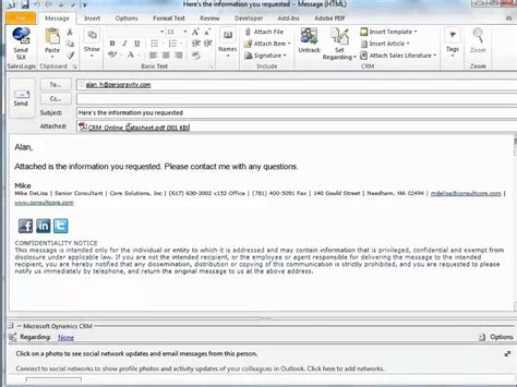 using templates in crm outlook emails youtube