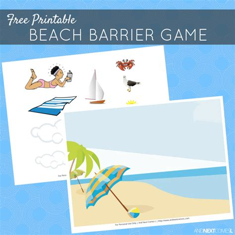 printable barrier games free printable beach barrier game for speech therapy and