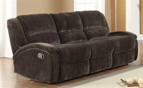 microfiber couch with recliner homelegance alejandro double reclining sofa chocolate