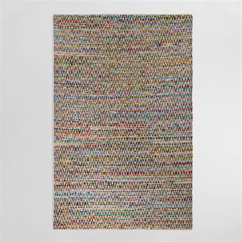chindi rug 6 x9 chevron reclaimed cotton chindi rug world market