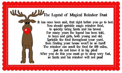printable magic reindeer poem printable reindeer food poem search results calendar 2015