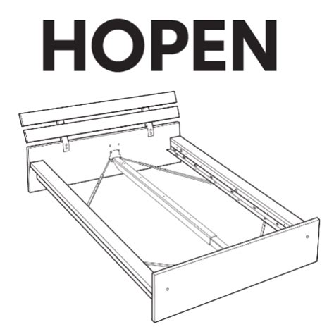 Parts Of A Bed Frame Ikea Hopen Bed Frame Replacement Parts Furnitureparts