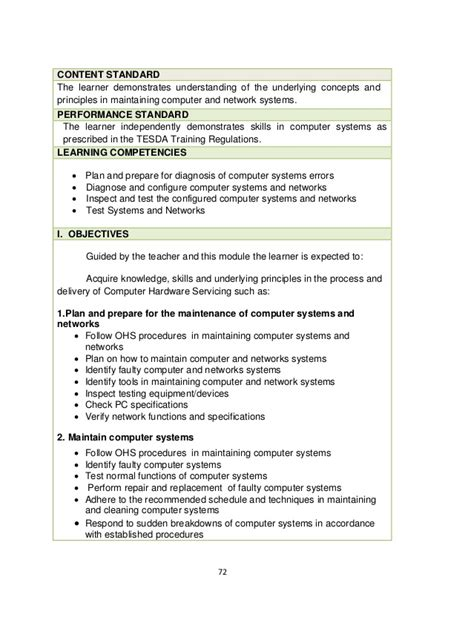 Sle Resume For Tle 100 Computer Hardware And Networking Resume Sles It