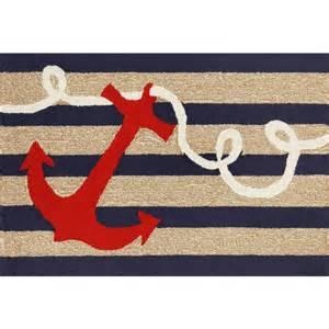 anchor rug navy stripe anchor indoor outdoor rug sturbridge yankee