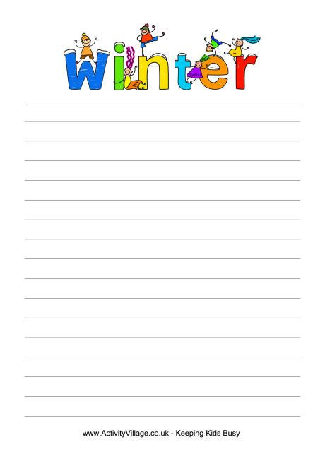 winter writing paper best photos of snow writing paper printable printable