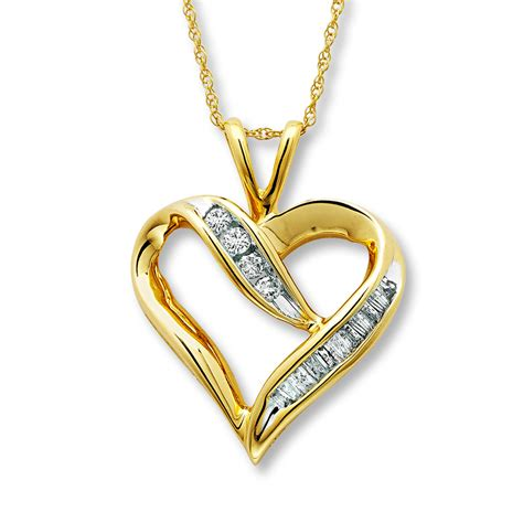 necklace 1 4 carat tw 10k yellow gold