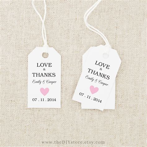 7 best images of free printable wedding tags templates