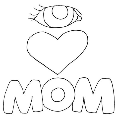 i love you mom coloring pages coloring home