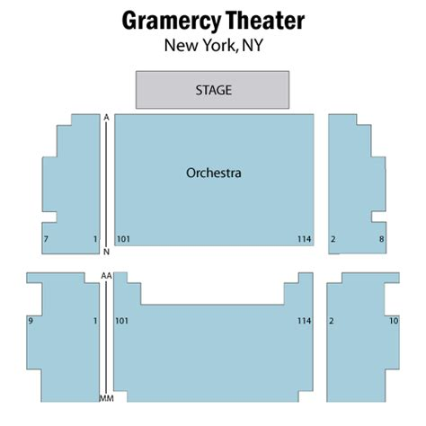 gramercy theater seating periphery october 06 tickets new york blender theater at