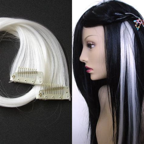 white hair extensions white clipin hair extensions hair streaks by