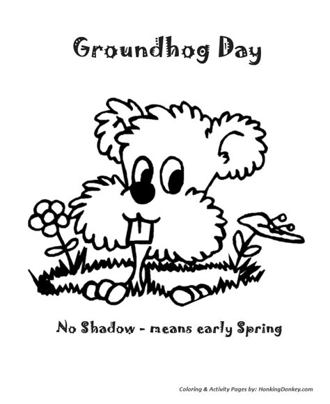 groundhog day meaning if no shadow groundhog day coloring pages coloring home
