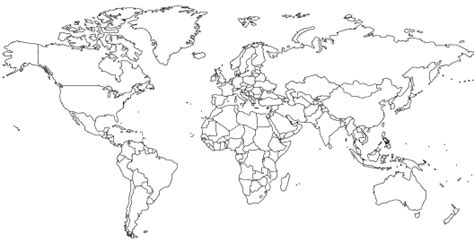 blank world map  country outlines classroom blank