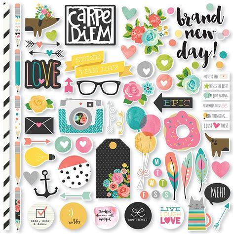 top rated products scrapbookcom simple stories carpe diem fundamentals stickers