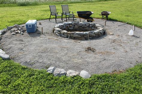 Hometalk Budget Stone Fire Pit Project Cheap Backyard Pit Ideas