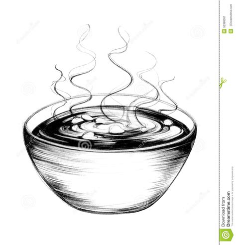 Soup Kitchen Ideas by Hand Drawn Soup Bowl Stock Illustration Illustration Of