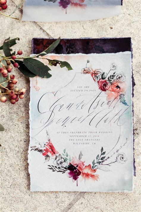 17  best ideas about Floral Wedding Invitations on
