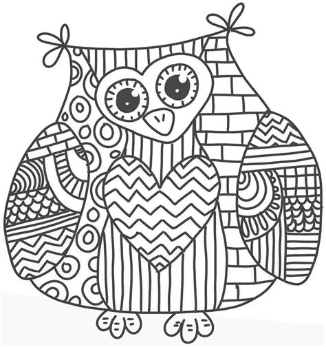owl coloring pages pdf cute owl coloring pages coloring home
