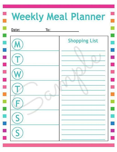printable meal planning sheets free printable menu planning sheet free printable meals