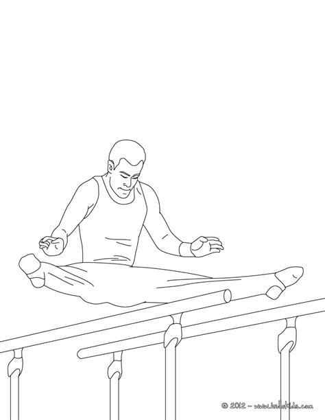 gymnastics bars coloring pages parallel bars artistic gymnastics coloring pages