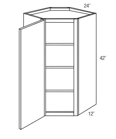 wall diagonal corner cabinet wdc2442 wall diagonal corner cabinet georgetown rta