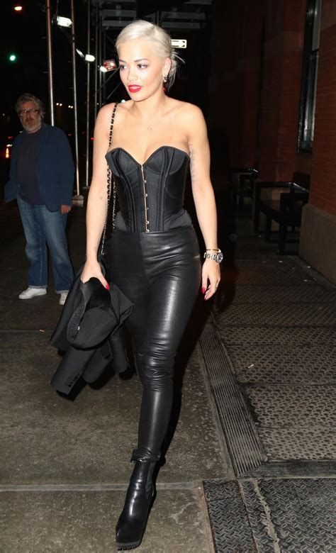 Leather Wearing Out by Ora Wearing A Corset Leather Out In New York
