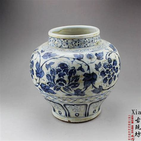 Antique Blue And White Porcelain Vases by Jingdezhen Porcelain Handmade Antique Blue And White