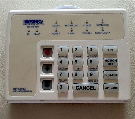 adt brinks security alarm system keypad household